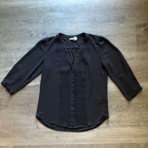 H&M gray button down shirt size 2